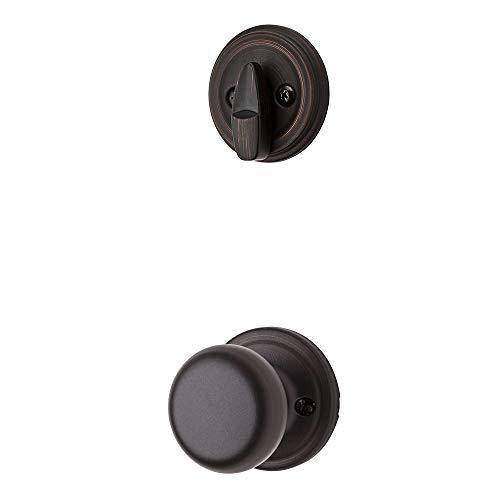 Kwikset 966H-11P Venetian Bronze Hancock Knob Single Cylinder Handleset (Interior Side Only)