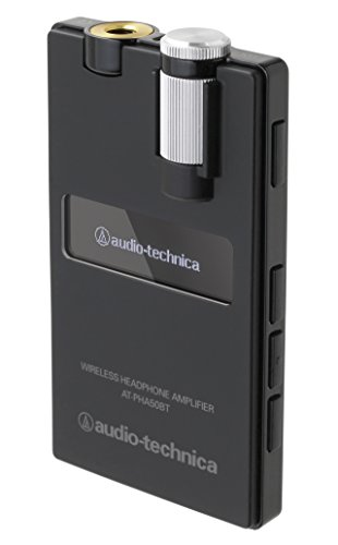[해외] audio-technica wireless 헤드폰 앰프 블랙 AT-PHA50BT BK