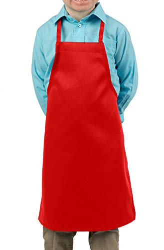 - Red Kids Apron, Small Bib