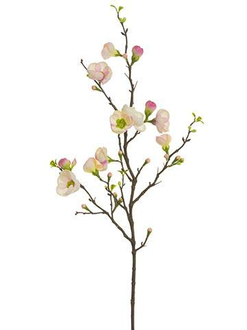 Floral Home Pink Artificial Quince Blossom Branch - 35