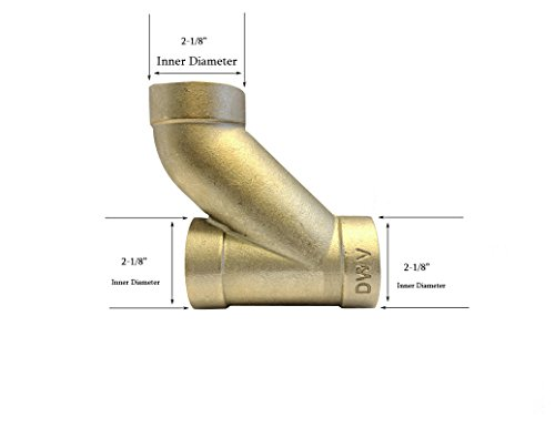 Libra Supply DWV 2 inch, 2'', 2-inch Long Turn TEE-Wye Cast Brass C x C x C, (Click in for more options)DWV Copper Pressure Pipe Fitting Plumbing Supply