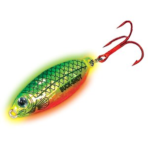 Northland Tackle BRS7-22 Buck-Shot Rattle Spoon Bait, Super-Glow Fire Tiger, 3/4 oz ()