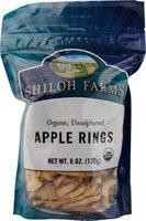 Organic Dried Apple Rings - 6 x 6 Oz
