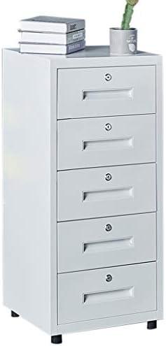 CML Home Datei-Kabinett for Büroschränke, Haus Schließfächer, Mobil Kommode mit Schloss, Kommode, File Storage Cabinet, Weiss