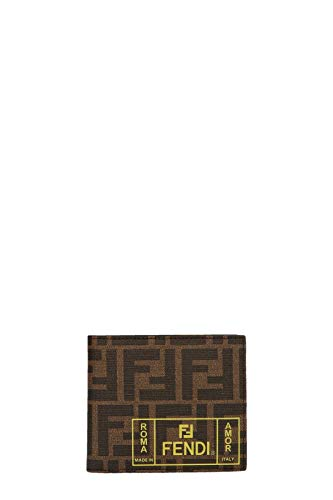 Fendi Men's 7M0169a7sbf17hw Brown Leather Wallet