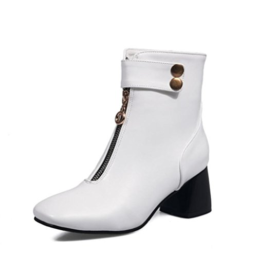QPYC Stivali Stivali Slip Donne Stivali Heeled Size Pull Invernali Scarpe Donne Stivali Donne Stivali white On Scarpe Big Low Donne ryc4g1Fqr