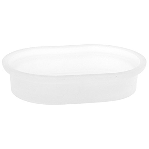 - Gedy CA11-05 Camelia Free Standing Frosted Glass Soap Dish, 0.6