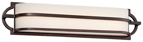 Minka Lavery 383-267B-L 3-Light Mission Grove LED Bath Lighting, Dark Brushed Bronze (Painted) Finish