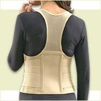 Cincher Women's Posture Back Brace Support Belt - Tan - Medium