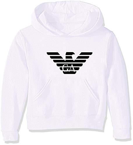 yus-Emporio-Armanis-ert Replica Unisex Toddler Kids Boys/Girls Pullover Hoodie Hooded Sweatshirt White