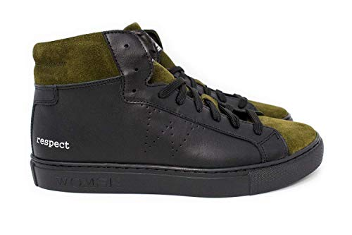 Black In Verde Sneakers suede Nero Pelle Bask Made Italy Womsh awgx1FTqH