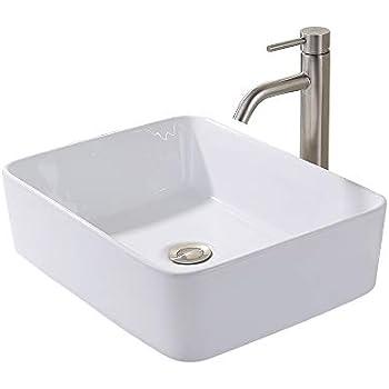 KES Bathroom Vessel Sink and Faucet Combo Bathroom