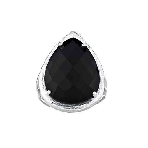 Black Stone Faceted Pear Cut Cocktail (Faceted Cut Stone Pear)