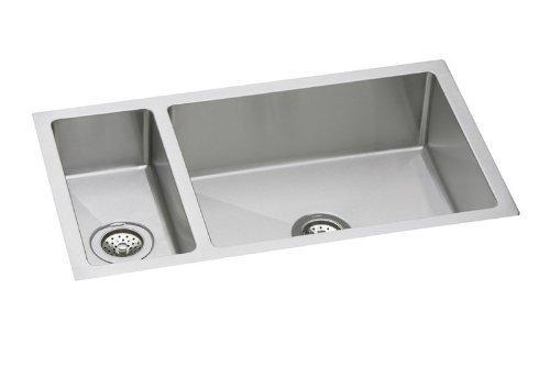 Two Installation Undermount Kit (Elkay Crosstown EFRU3219DBG 30/70 Double Bowl Undermount Stainless Steel Sink Kit)