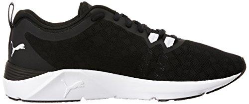 Puma Rush Wn's, Zapatillas Deportivas para Interior para Mujer Negro (Puma Black-puma White 02)