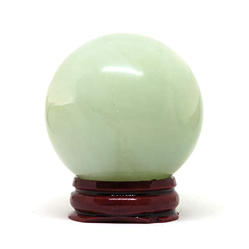 NSC Trading 50mm Green Jade Crystal Gemstone Sphere with - And Crystal Spheres Stone
