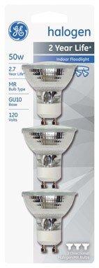 Price comparison product image Ge Halogen Flood Light Bulb 50 W Mr16 Gu10 2750 K Carded