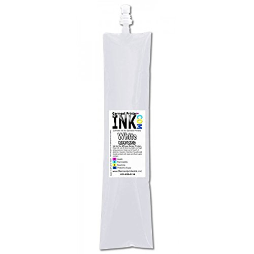 DuPont 500ml DTG ink bag for the Anajet mPower MP5 and MP14 , White by Garment Printer Ink