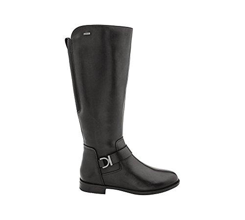 Clarks Women's Mint Treat GTX Riding Boot,Black Leather,7 M