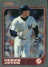 1997 Bowman Chrome Derek Jeter New York Yankees Baseball Card #1 - Mint Condition - Shipped In Protective Display Case