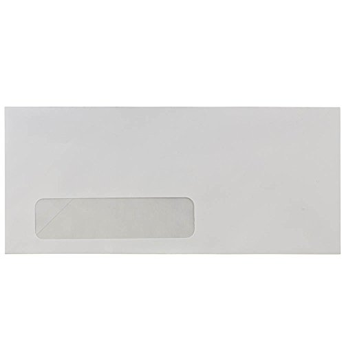 (JAM PAPER #10 Business Commercial Window Envelopes - 4 1/8 x 9 1/2 - White - 100/Pack )