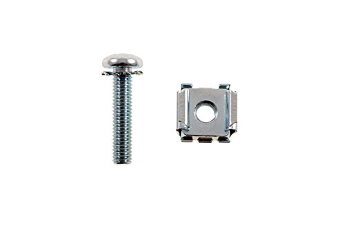 (Rack Mount Cage Nuts Screws, 12-24, Qty 20,)
