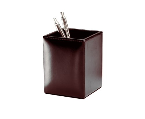 Brown Leather Pencil (Dacasso Dark Brown Bonded Leather Pencil Cup)