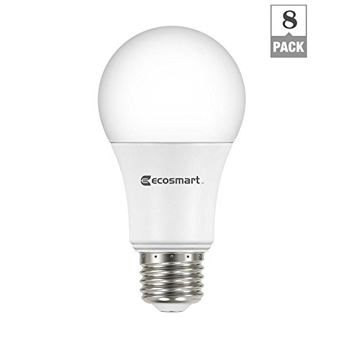 EcoSmart 60W Equivalent Soft White A19 Energy Star Dimmable LED Light Bulb 8-Pack (Ecosmart Light Bulbs Led compare prices)
