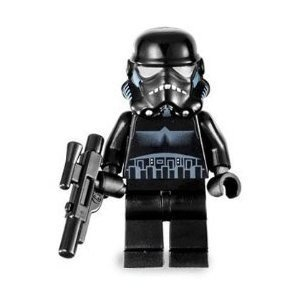 LEGO Star Wars Minifigure - Black Shadow Trooper with Blaster Gun (2007) (Lego Wars Sets 2007 Star)