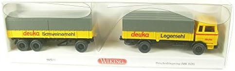 Miniaturmodell 1:87 Wiking H0 043201 Pritschenh/ängerzug Deuka