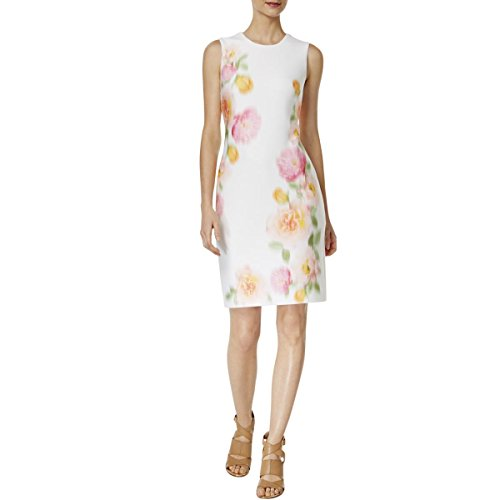 Work Wear Womens Ember to Multi Dress Sleeveless Klein Calvin Floral Print x0wOqAq6