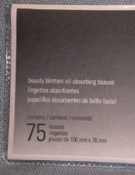 - Mary Kay Beauty Blotters Oil-Absorbing Tissues ~ 75/Pkg