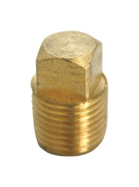 Jmf Brass Square Head Cored Pipe Plug Lead - Pipe Plug Cored Head