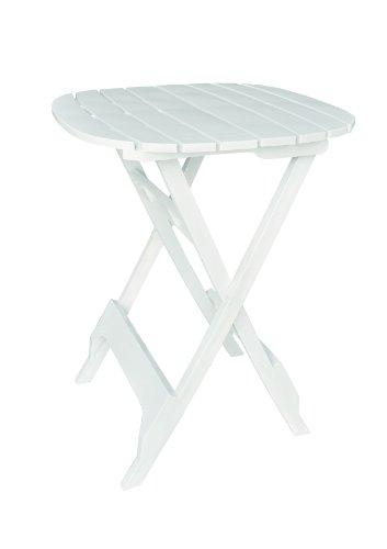 Adams Manufacturing 8560-48-3701 Quik-Fold Bistro Table, 40-Inch, White (Adams Manufacturing Quik Fold Cafe Bistro Set)
