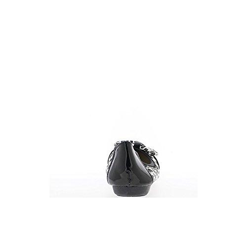 Material bi negro elegante bailarina con nodo