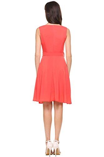 Orange Summer Dress Pleated Party Dresses Summer Women's Cocktail cindere Mini Shirt Dresses Little Dress ZWPOWFqgE0