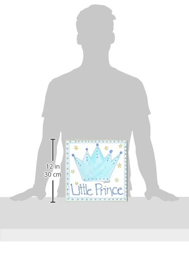The Kids Room by Stupell Little Prince with Blue Crown Square Wall Plaque