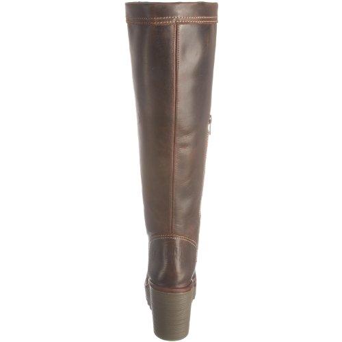 FLY Marrón Botas mujer de London para Cher cuero Dark Brown Leather F6fwAFUq