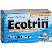 ECOTRIN LOW DOSE ASPIRIN 45TB GLAXO SMITHKLINE CONSUMER