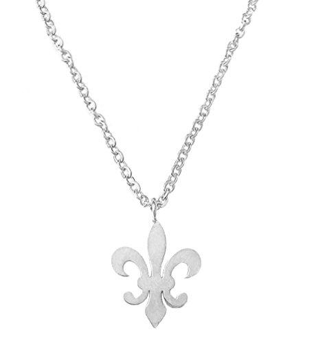 (Altitude Boutique Fleur De Lis Pendant Necklace (Silver))