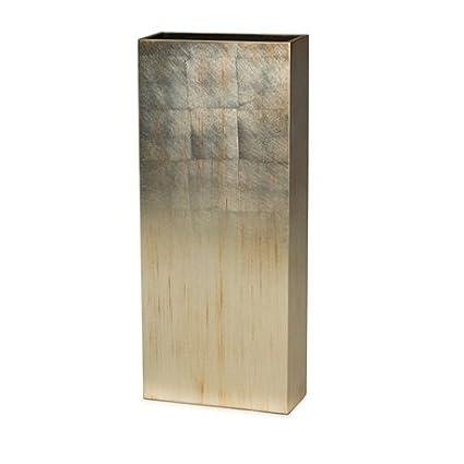 Amazon Natori Rectangular Vase Large Silver Large Home