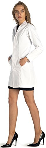 Dr. James Stylish Tailored Fit Women's Lab Coat • 34 Inch Length US 6 US-18-C (Sexy Fur Coat)