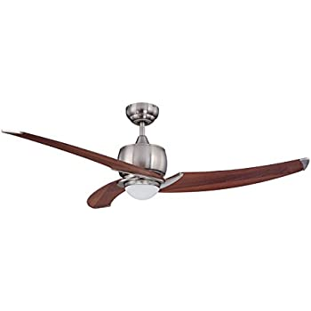 Kendal lighting ac17152 sn treo 52 inch 3 blade 1 light ceiling fan