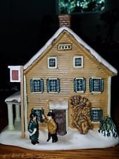 Currier & Ives ''The Winter in the Country'' Porcelain Christmas Holiday Lighted Building