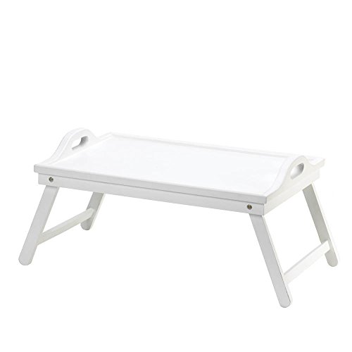 (White Chic Folding Shabby Lap Desk Table laptop Tray Books Breakfast Bed Serving )