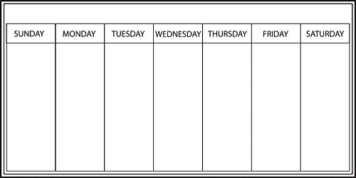 Whiteboard Weekly Calendar -