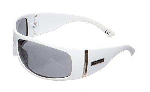 de Vintage UV400 Occhiali Sol Cristales Gafas UVA de Catania UVB Blanco Mujer Modelo gFqE0x