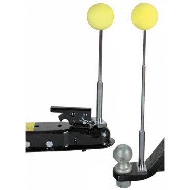 Magnetic Trailer Alignment Kit with Chrome Plated Telescoping Rods ()