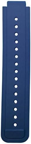 交換用 ウォッチ 腕時計 バンド ベルト 2本 Garmin Vivoactive対応 シリコン - グレー+ブルー