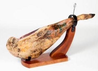 Jamonero Góndola - robusto y bonito - Modelo Huelva – soporte de madera alta calidad, corte fácil y seguro - Garantía Buarfe